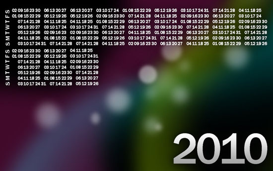 2010 Calendar wallpaper-fixed by JluuisS