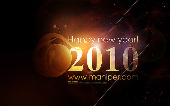 Happy New Year 2010 by maniper