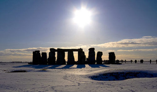 Snow In Stonehenge