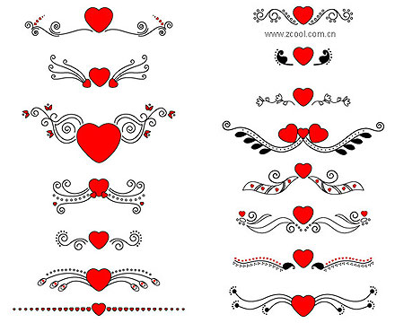 Heart-Shape Free Vector