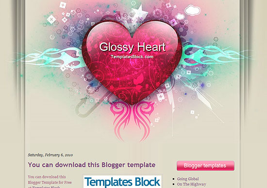 Glossy Heart Template