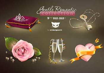 Free Gentle Romantic Icons