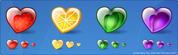 Fruity Hearts Icons By Flameia Design