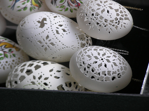 Hungarian Carved eggs