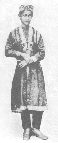 young Rabindranath Tagore at age of twelve