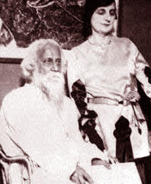 Tagore with Indira Gandhi