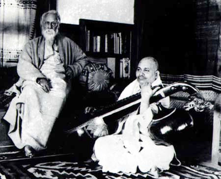 Tagore with Pandit Bhim Rao Shastri