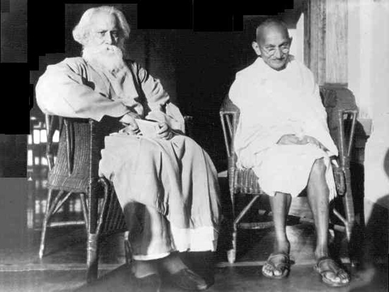 Tagore with Mahatma Gandhi