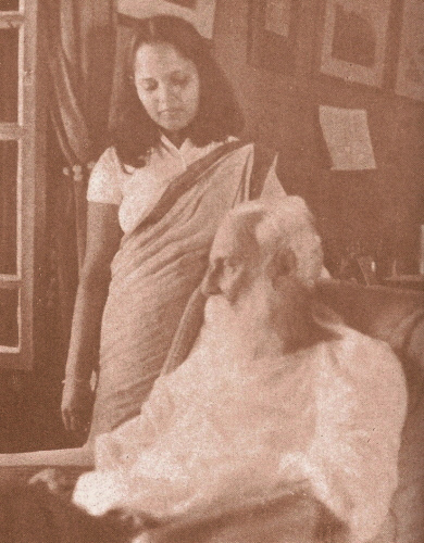 Tagore with granddaughter Nandita