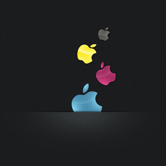 Multicolor Apples iPad