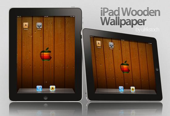 iPad wooden style