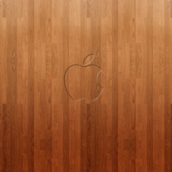 Apple Logo Hardwood