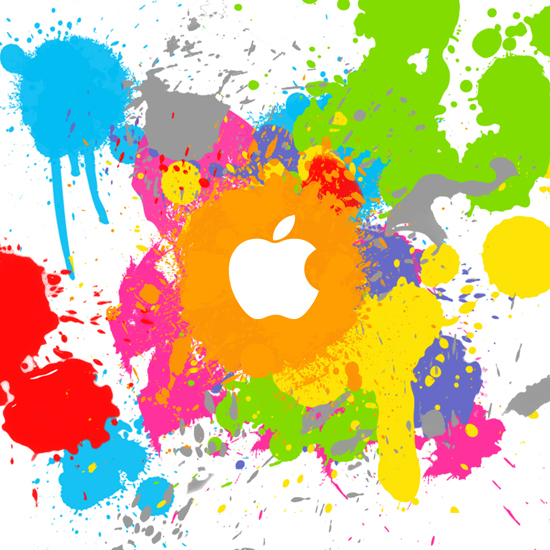 Colorful Apple logo iPad Wallpaper