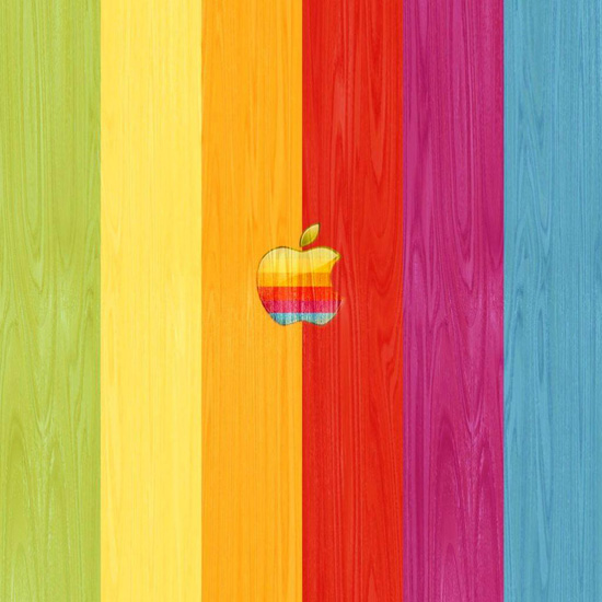 rainbow apple ipad wallpaper
