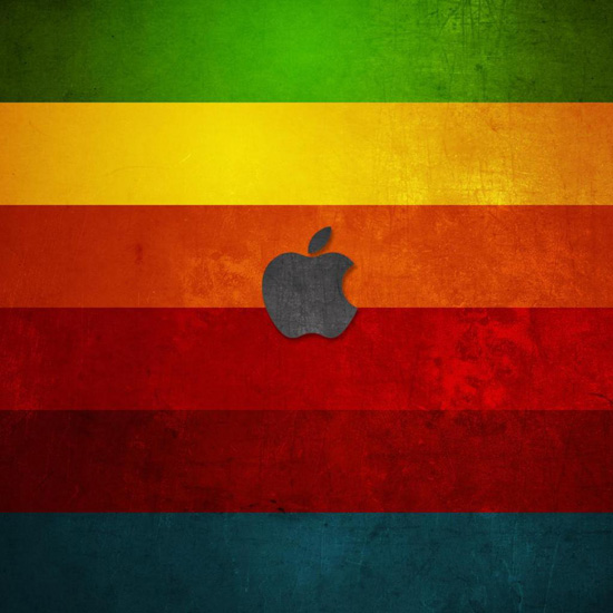 apple with colors background