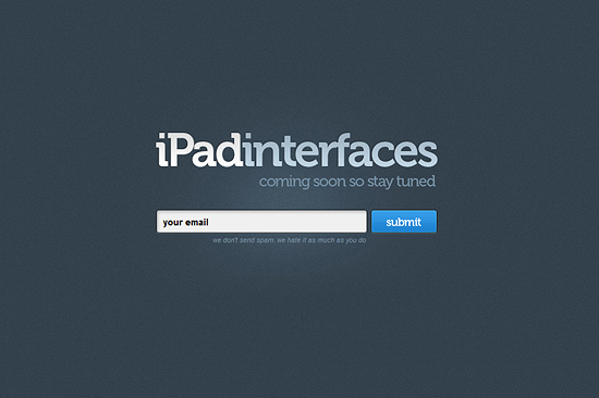 iPad Interfaces