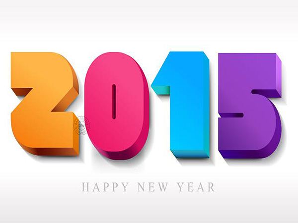 2015 3D NEW YEAR HD WALLPAPER