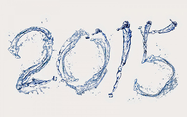2015 ,New Year, Art, Water