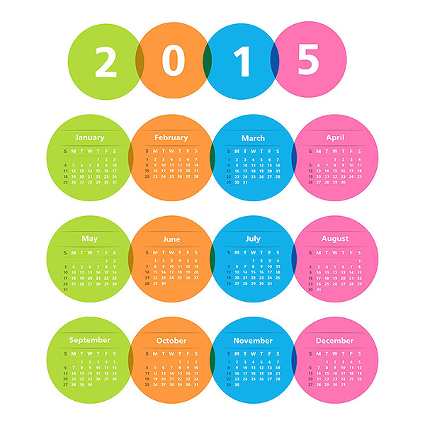 Year 2015 Calendar Wallpaper