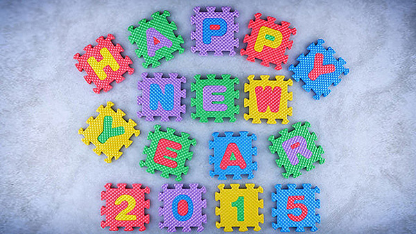 Happy New Year 2015 Puzzles Game HD Wallpaper