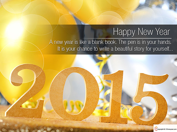 New Year 2015 Blessings Wallpaper
