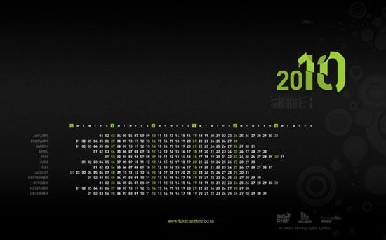 fluid 2010 wallpaper calendars