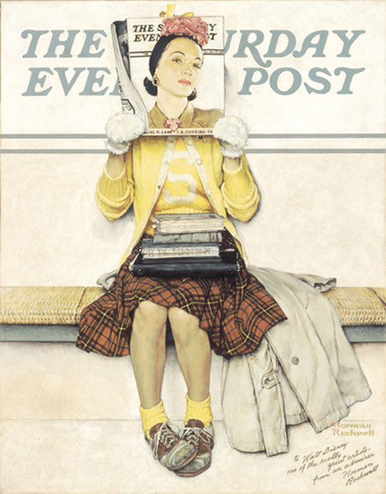 Girl Reading the Post