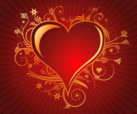 lovely heart vector
