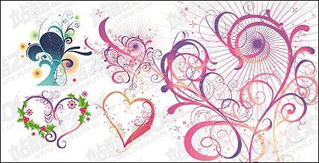heart shaped elements