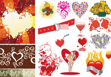 love and heart vector