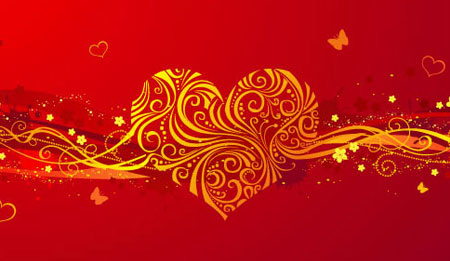romantic valentine day heartshaped pattern vector background