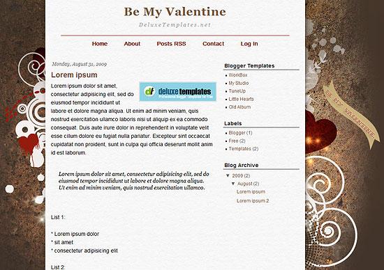 Be My Valentine Template