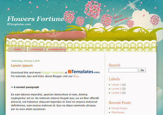 Flowers Fortune Template