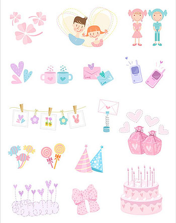 Cute icon vector material