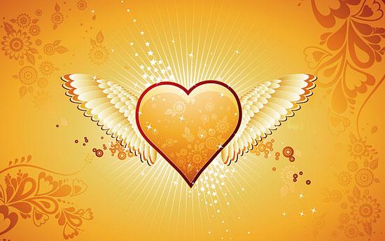 Heart Angel wallpaper