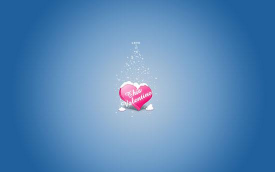 Valentine Blue Heart wallpaper