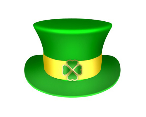 Leprechaun Green Hat With Shamrock