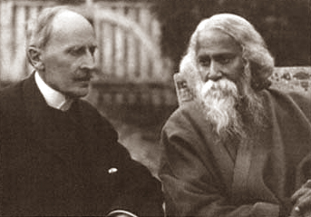 Rabindranath Tagore with Romain Rolland, Switzerland