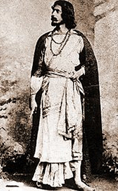 Rabindranath Tagore playing Valmiki in his drama Valmiki Pratibha