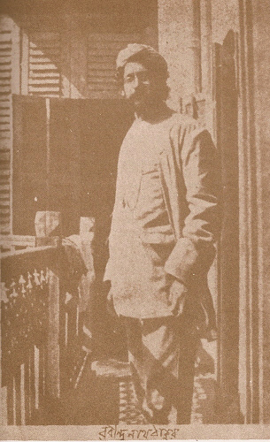 Rabindra Nath Tagore at the age of 35(approx)
