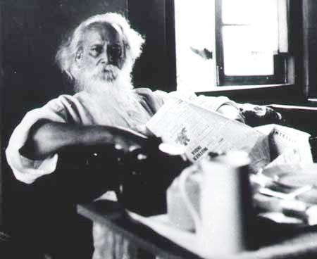 Rabindranath Tagore at morning tea