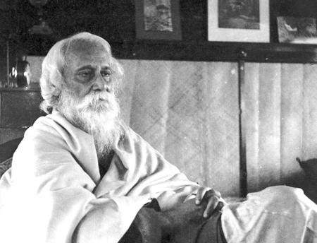 Rabindranath Tagore resting