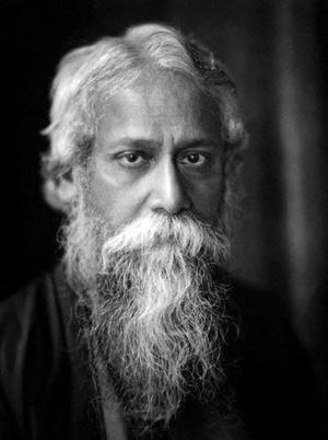 Rabindranath Tagore black and white photo
