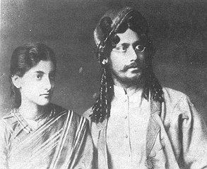 Rabindranath Tagore and Indira Devi