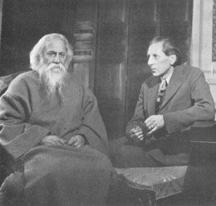 Rabindranath Tagore with Ananda K. Coomaraswamy