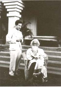 Karel with Tagore