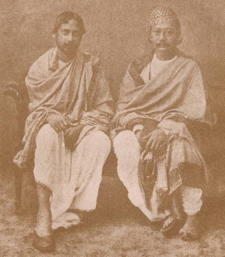 Rabindranath Tagore with Tripureswar Radhakishor Debmanikya