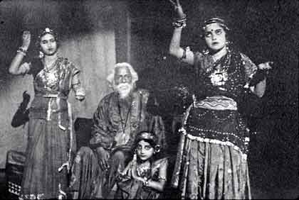 Rabindranath Tagore watching a dance programme