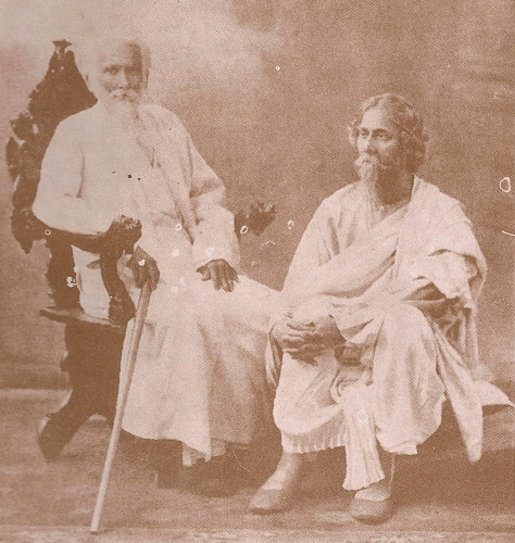 Rabindranath Tagore with eldest brother Dwijendranath Tagore