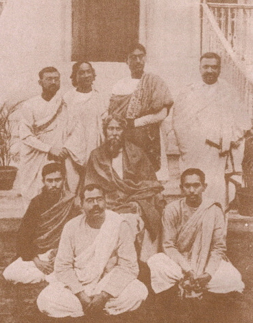 Rabindranath Tagore with eminent Bengali writers